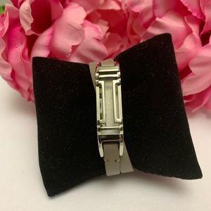 Tory Burch Taupe Fitbit Fret Double- Wrap Bracelet